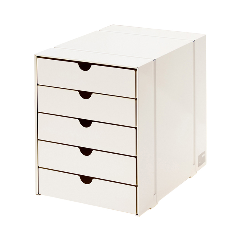 USM INOS BOX SET C4 5DRAWERS PURE WHITE