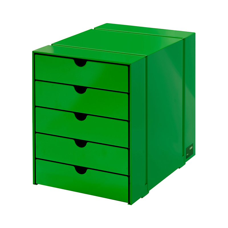 USM INOS BOX SET C4 5DRAWERS USM GREEN