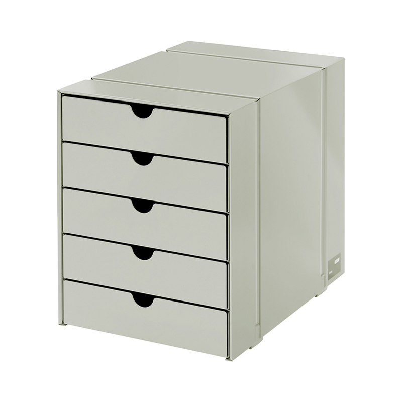 USM INOS BOX SET C4 5DRAWERS LIGHT GREY