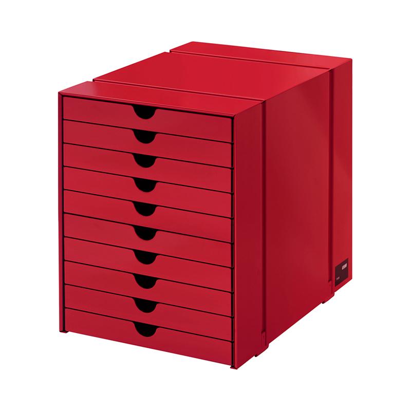 USM INOS BOXSET C4 10DRAWERS USM RUBY RED