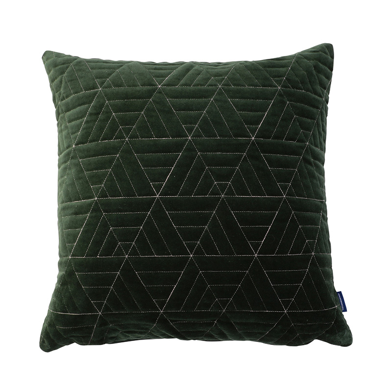ORIGINAL VIJAY CUSHION COVER TRIANGLE / GREEN