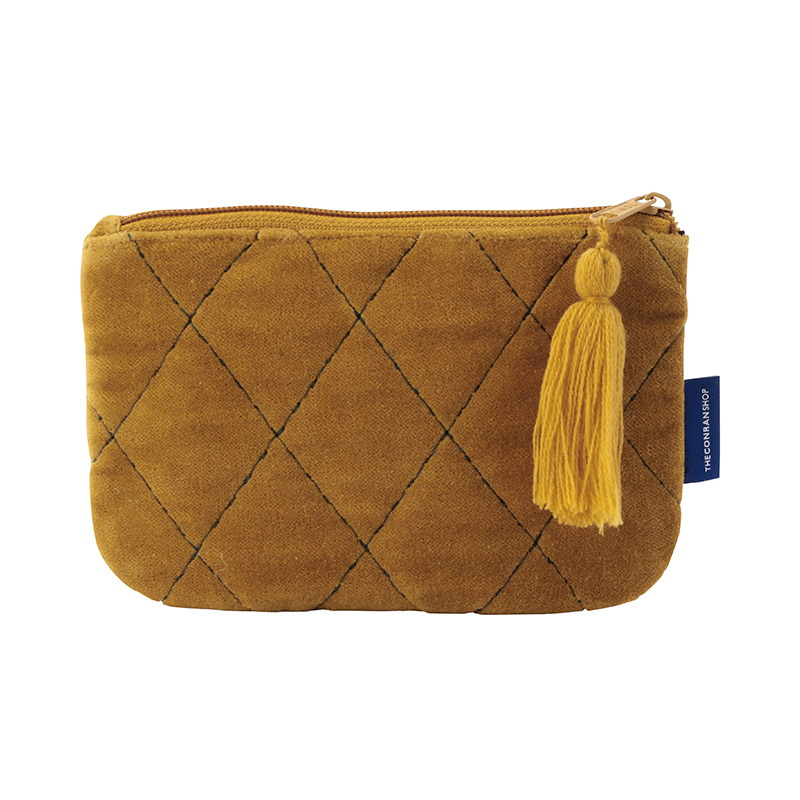 ORIGINAL VIJAY QUILTED POUCH S LATTICE / OCHER