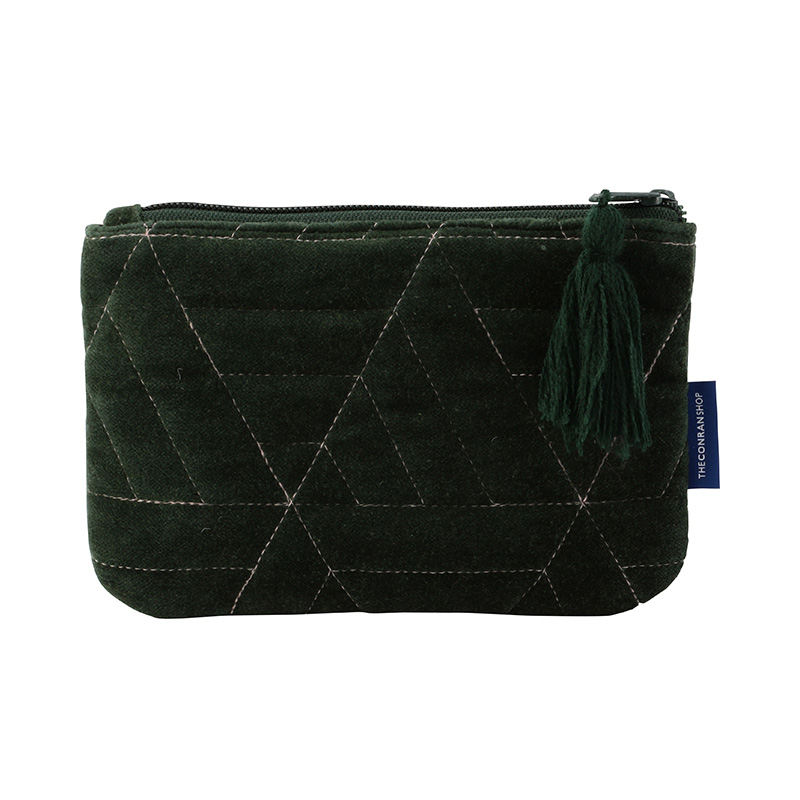ORIGINAL VIJAY QUILTED POUCH S TRIANGLE / GREEN