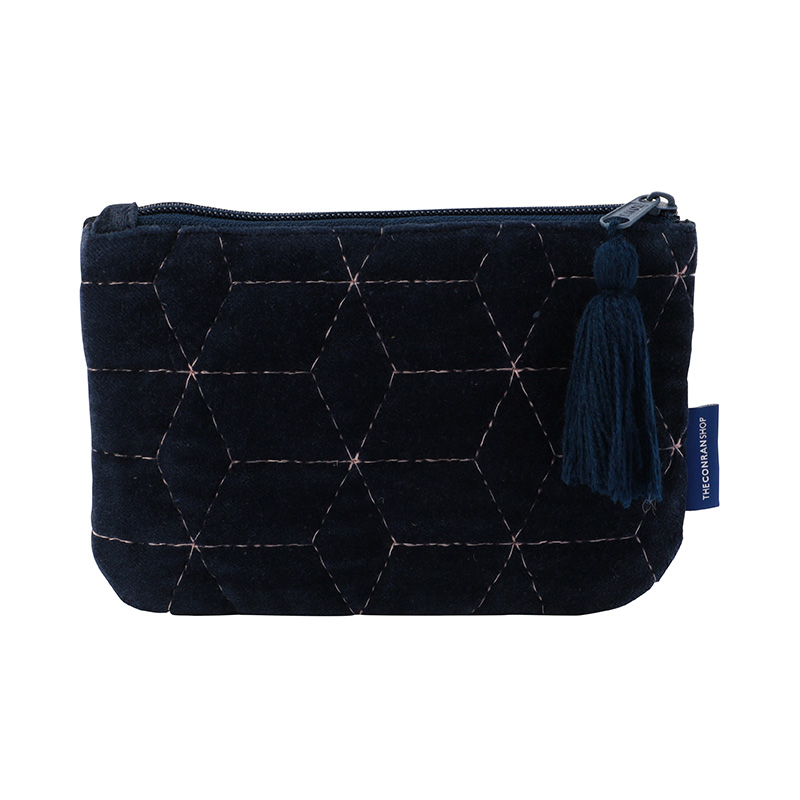 ORIGINAL VIJAY QUILTED POUCH S GEOMETRIC / NAVY
