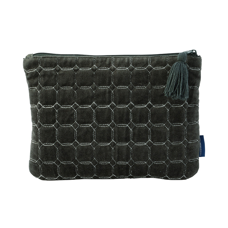 ORIGINAL VIJAY QUILTED POUCH M TILE / CLAY