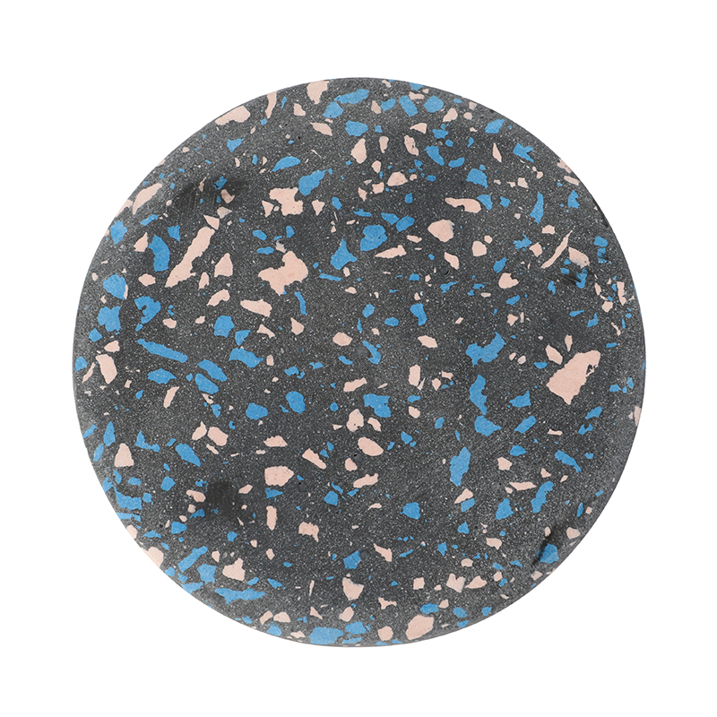 SPECKLE COASTER ROUND BLACK