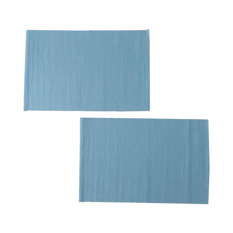 RIB PLACEMAT AQUA BLUE