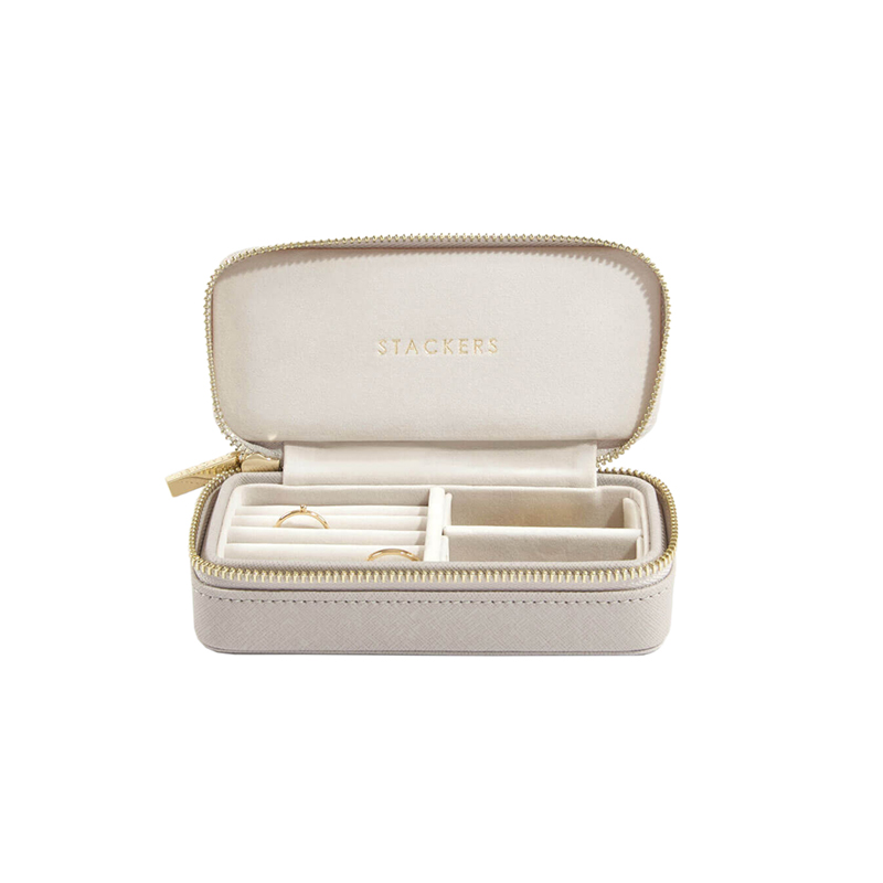 STACKERS CLASSIC TRAVEL JEWELRY BOX TAUPE MEDIUM
