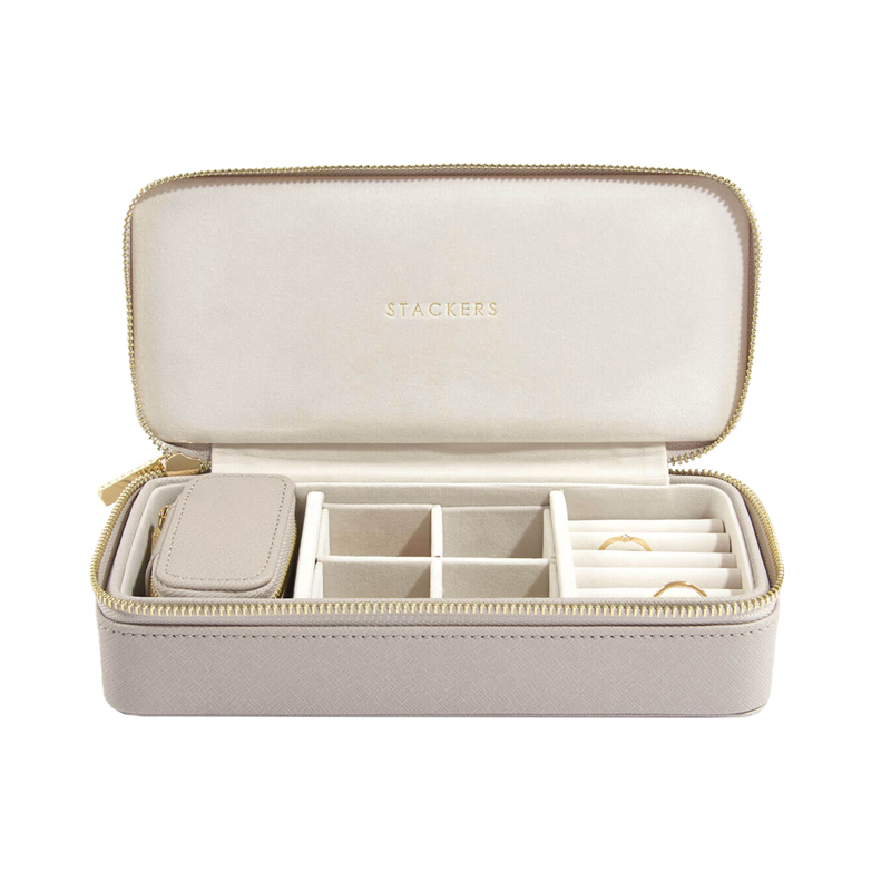 STACKERS CLASSIC TRAVEL JEWELRY BOX TAUPE LARGE