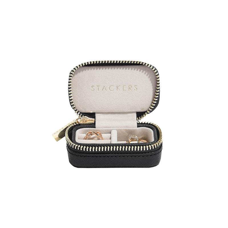 STACKERS TRAVEL JEWELRY BOX BLACK SMALL