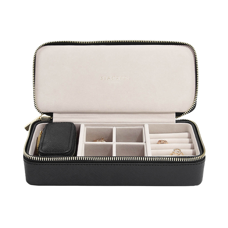 STACKERS TRAVEL JEWELRY BOX BLACK LARGE