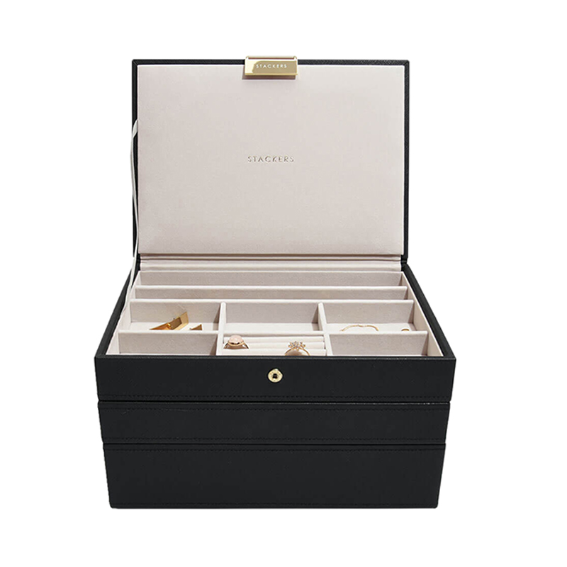 STACKERS CLASSIC JEWELRY BOX BLACK 3SET