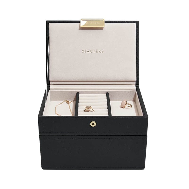 STACKERS  BLACK MNI JEWELRY BOX 2SET