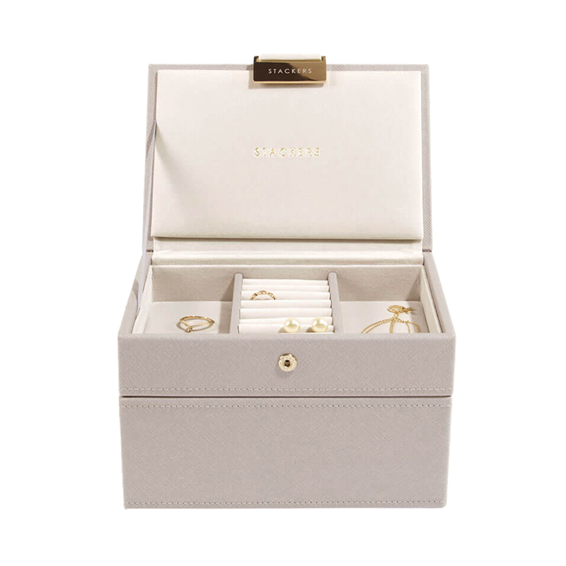 STACKERS  TAUPE MINI JEWELRY BOX 2SET