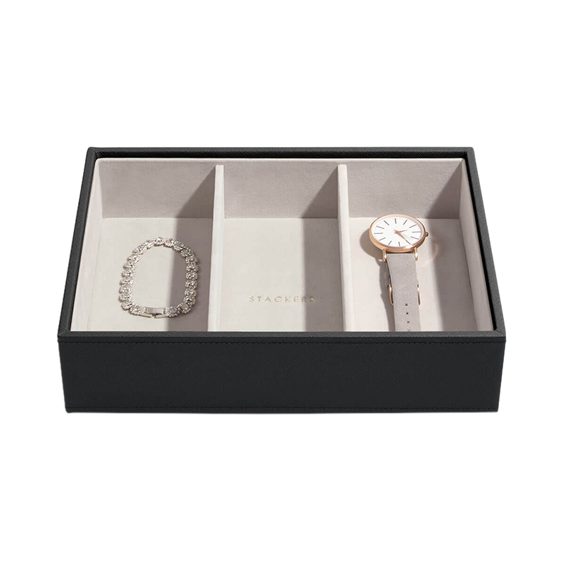 Stackers Black Classic 25 Section Jewelry Box