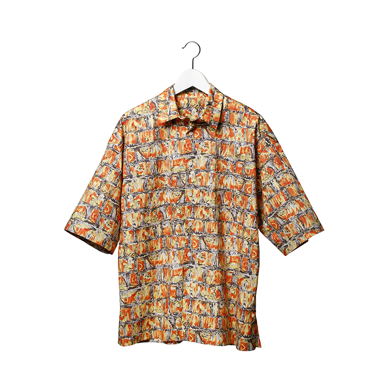 MODEL'SLINK 19102003 GRAPHIC SHIRT SIZE 0 ORANGE