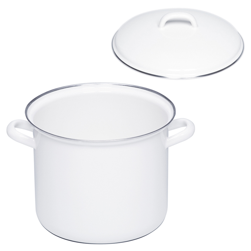RIESS STOCKPOT WITH LID 22CM 6L WHITE