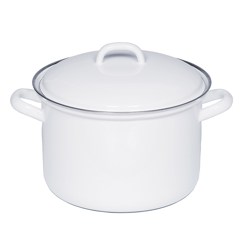 RIESS SAUCE POT WITH LID 22CM 4.5L WHITE