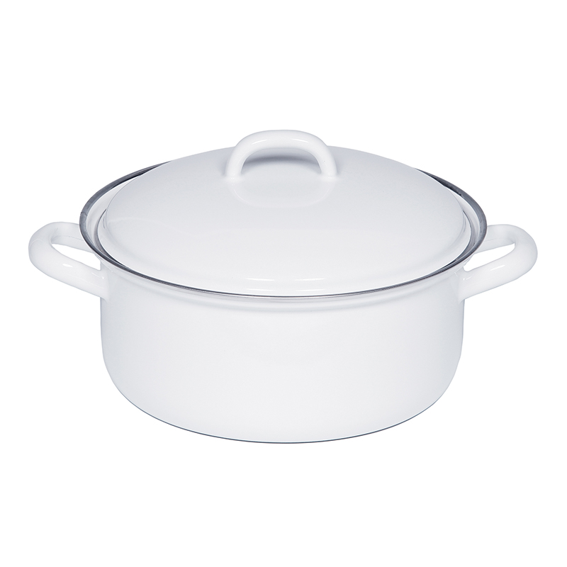 RIESS CASSEROLE WITH LID 22CM 3L WHITE