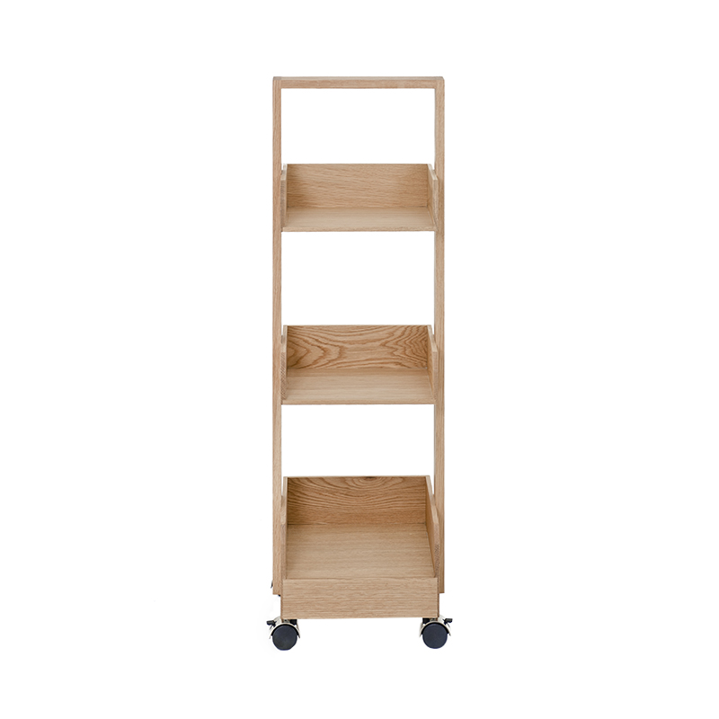 WIREWORKS MINI BOOKIE ROLLER SHELF OAK