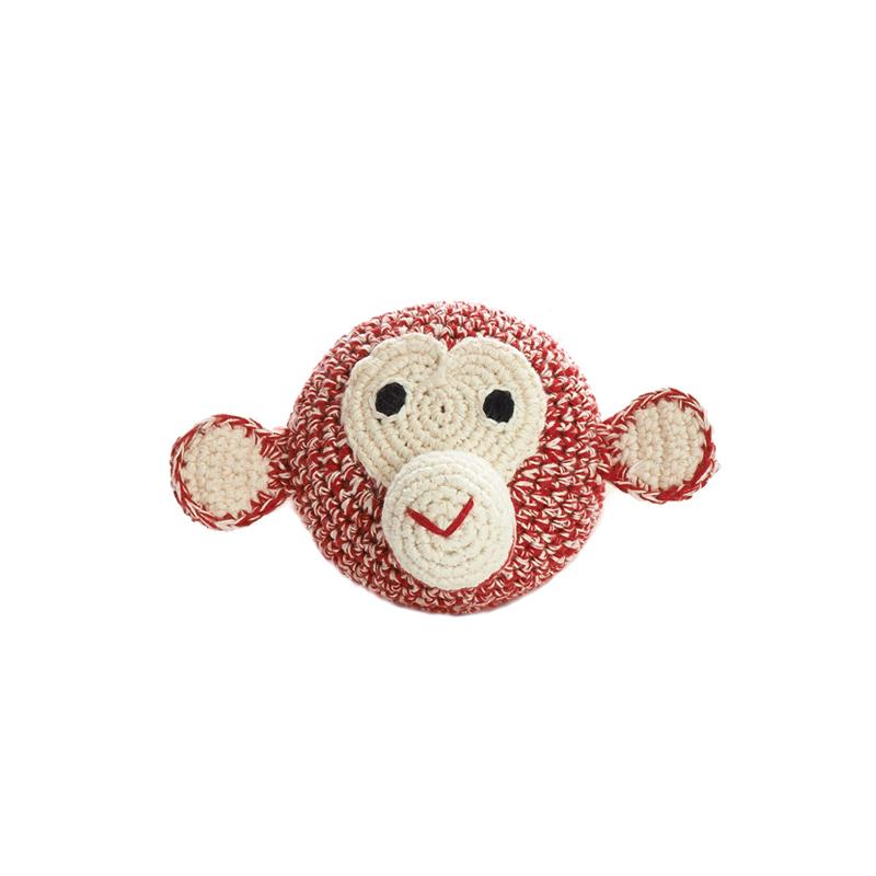 SMALL CHIMPANZEE HEAD RED