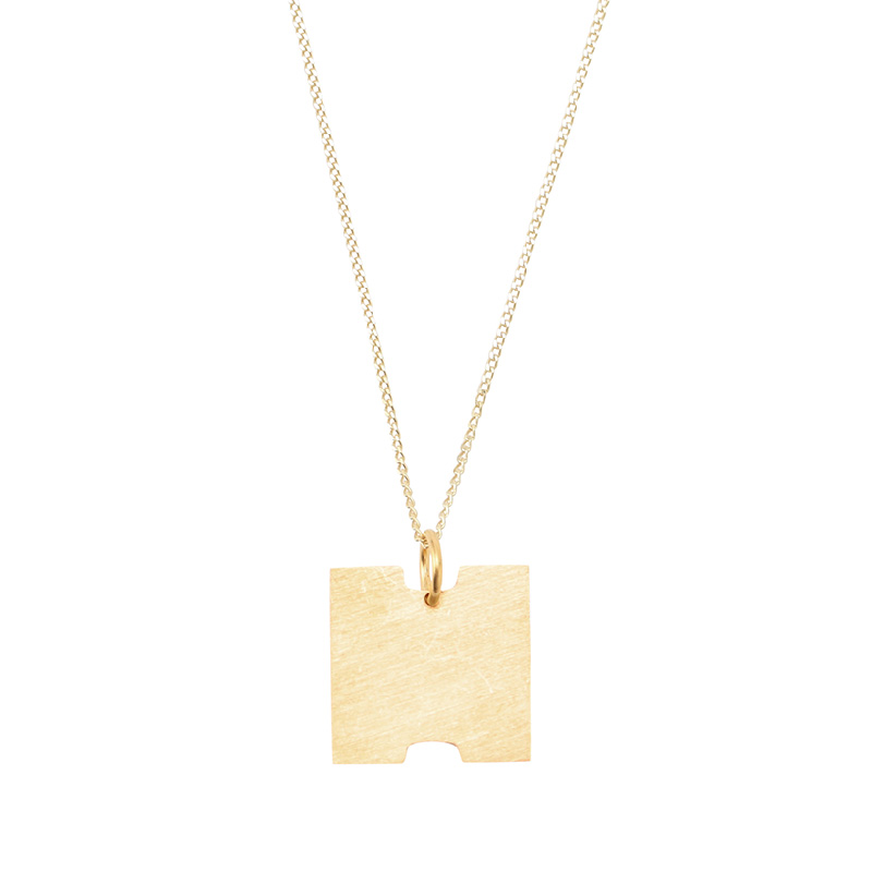 BAUHAUS ALPHABET PENDANTS GOLD H
