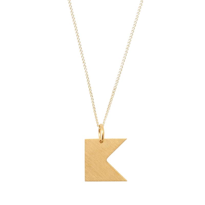 BAUHAUS ALPHABET PENDANTS GOLD K