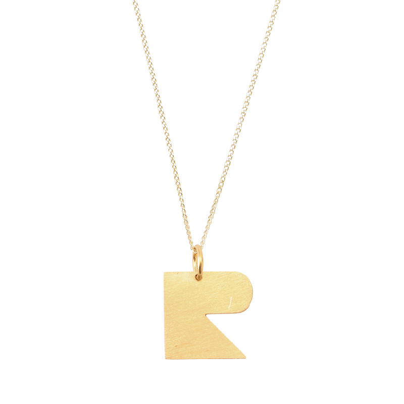 BAUHAUS ALPHABET PENDANTS GOLD R