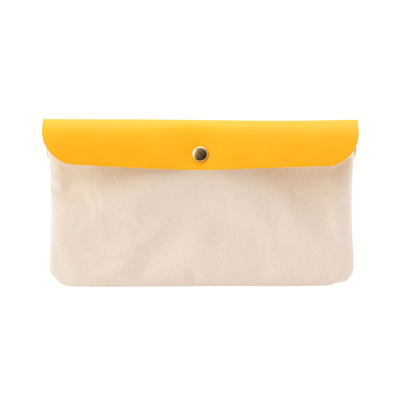 CANVAS POUCH OFF WHITE&YELLOW