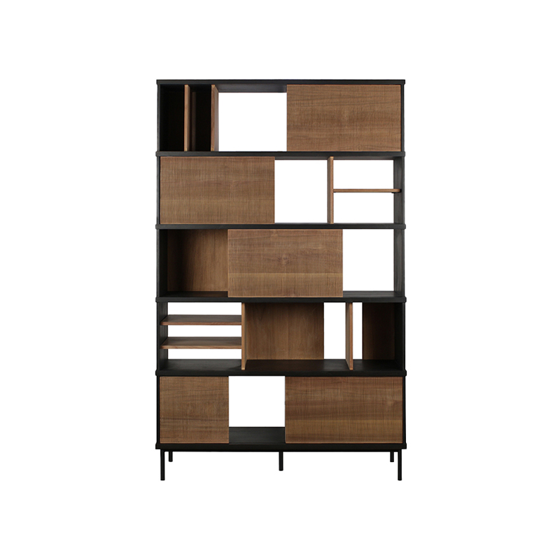 ETHNICRAFT TEAK OSCAR RACK 5 SLIDING DOORS