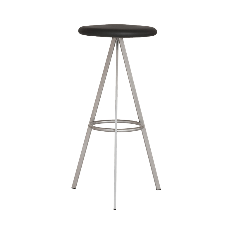 TRI SPACE COUNTER STOOL LEATHER BLACK