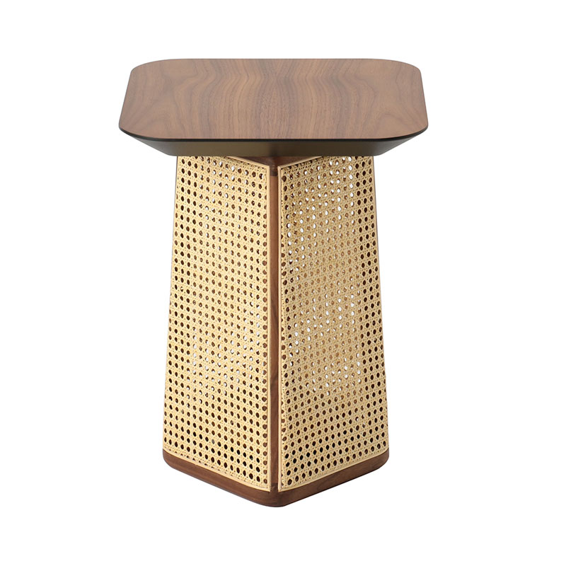 COLONY SIDE TABLE WALNUT NATURAL VIENNA 40X40X54