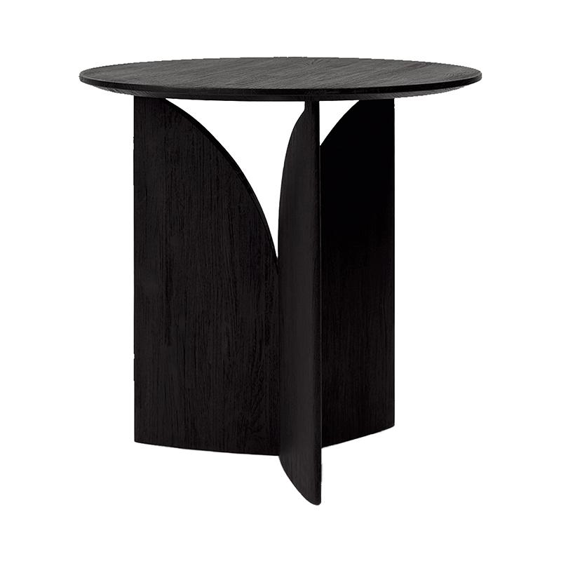 TEAK FIN BLACK SIDE TABLE