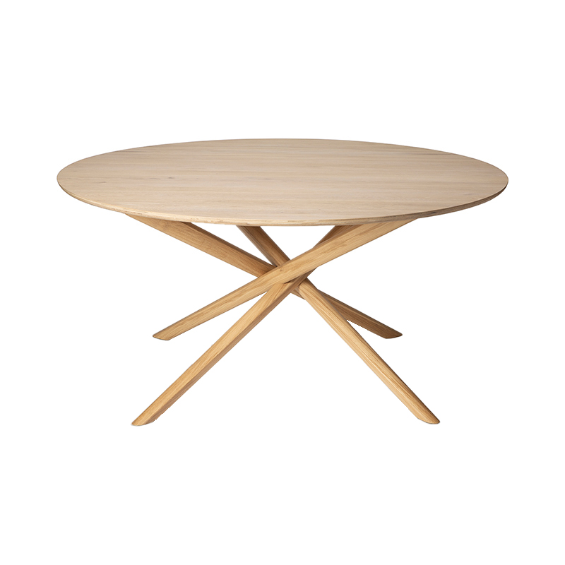 OAK MIKADO DINING TABLE ROUND