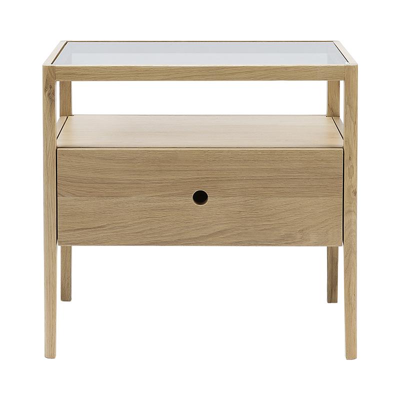 OAK SPINDLE BEDSIDE TABLE 1DRAWER