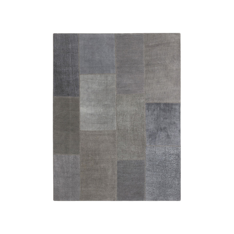 KVADRAT HEMP RUG 180X240 DARK GREY