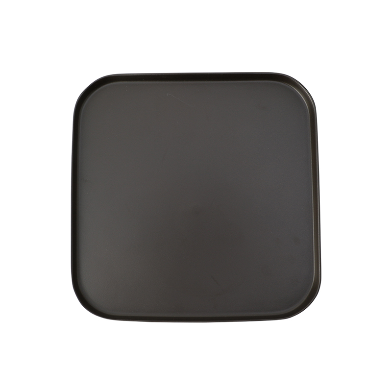 GAIA SQUARE PLATE 270 BLACK