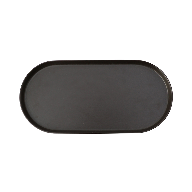 GAIA LONG PLATE BLACK