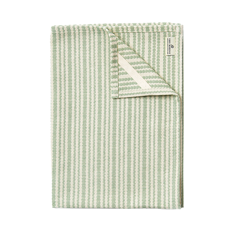 PIPPY SCALLOP TEA TOWEL OLIVE 50X70