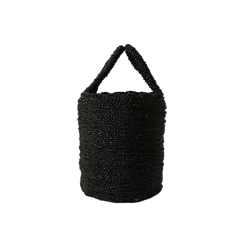 SEAGRASS BASKET BLACK SMALL
