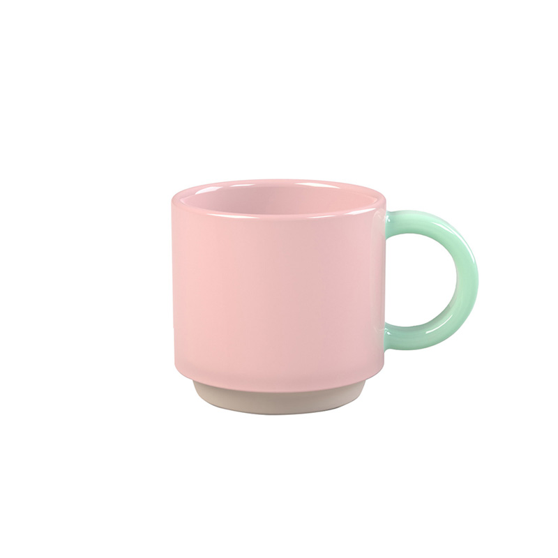 LUND STACKING SKITTLE MUG 266ML PINK