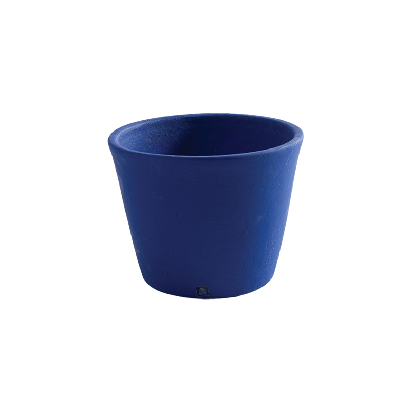 POT CONTAINER MEDIUM D16 H12 NAVY BLUE