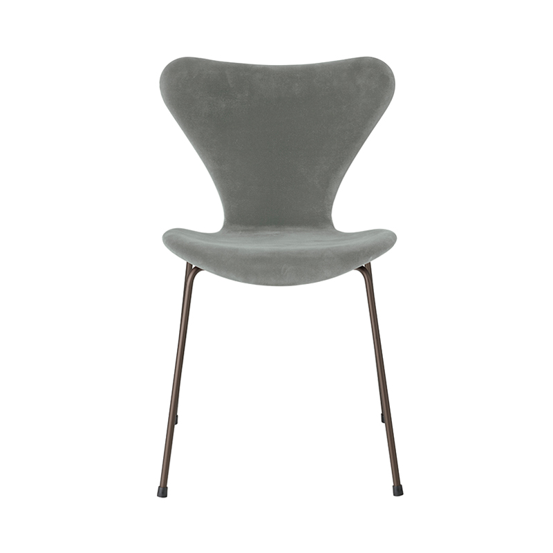 SERIES 7 CHAIR VELVET BELFAST SEAL GREY