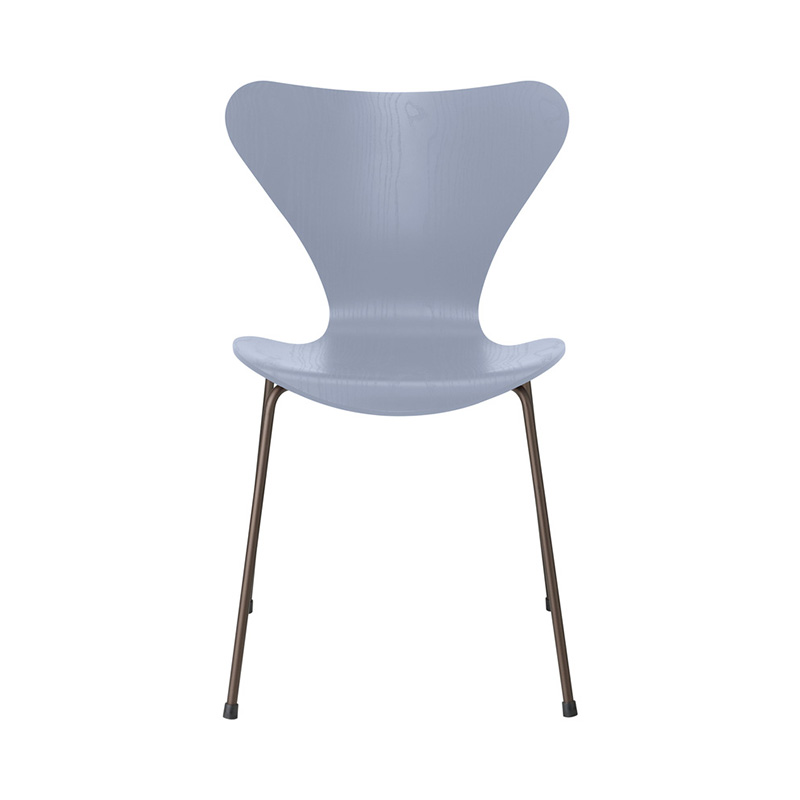 7 CHAIR COLOURED ASH LAVENDER BLUE BROWN BRONZE LEG