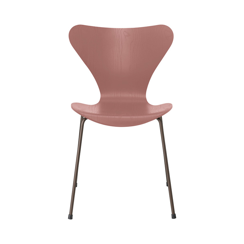 7 CHAIR COLOURED ASH WILD ROSE BROWN BRONZE LEG