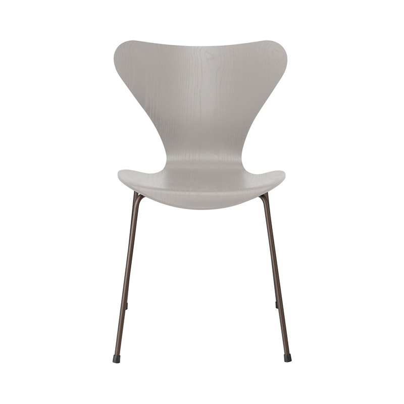 7 CHAIR COLOURED ASH NINE GREY BROWN BRONZE LEG