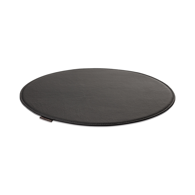 SEAT CUSHION FOR 7 CHAIR RAW LEATHER BLACK