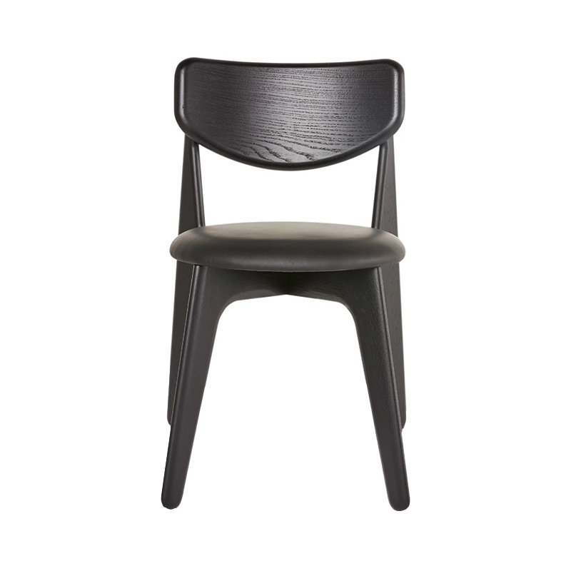 SLAB DINING CHAIR BLACK UPHOLSTERY