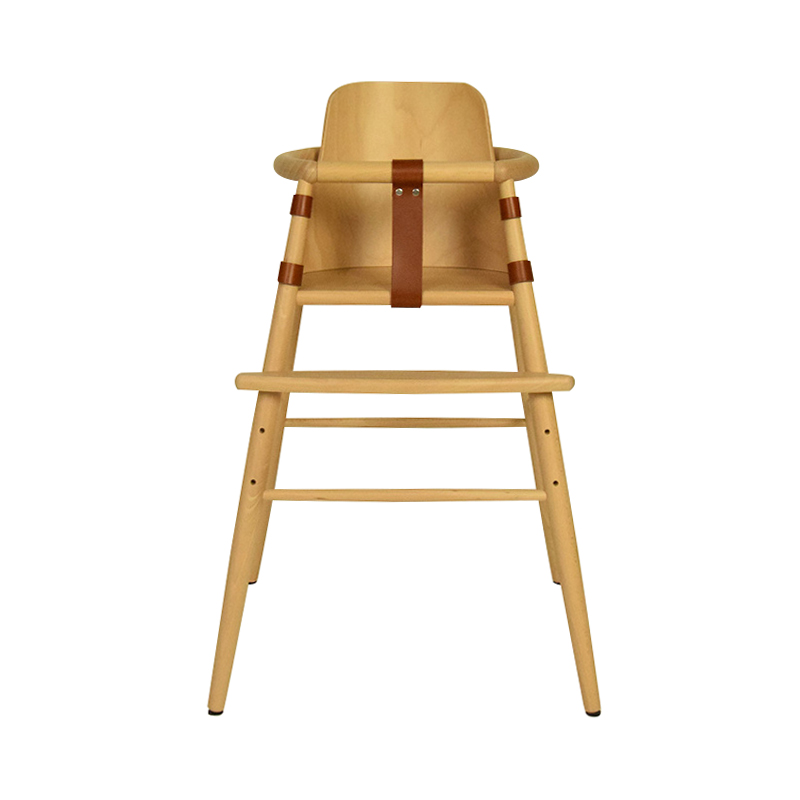 ND54 CHILDREN HIGH CHAIR BEECH LACQUER WITH BABY BACKREST