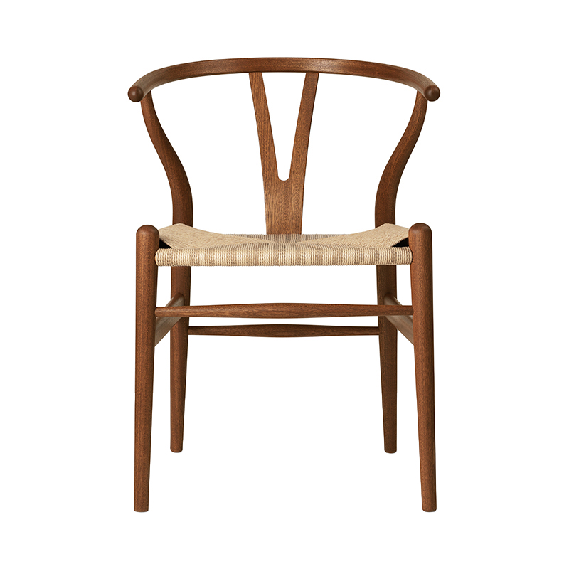 CH24 Y CHAIR MAHOGANY OIL NATURAL SEAT